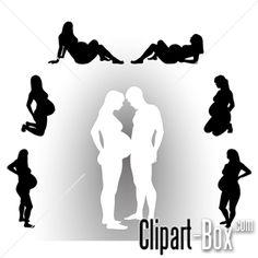CLIPART PREGNANT WOMAN POSE