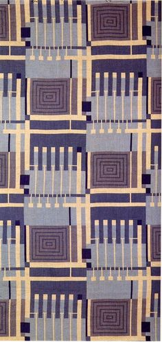 TEXT-MODE — 'Design 102' textile design by Frank Lloyd Wright,...