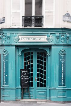 Paris Photography - La Pharmacie, France Travel Photograph, French Home Decor, Large Wall Art- Emily Vrydagh - Your Health and Beauty Restaurants In Paris, Restaurant Paris, Restaurant Door, Paris Travel, France Travel, Billard Bar, Paris France, Paris 11e, Paris Paris