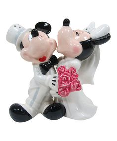 Take a look at this Mickey & Minnie's Wedding Salt & Pepper Shakers by Westland Giftware on #zulily today!