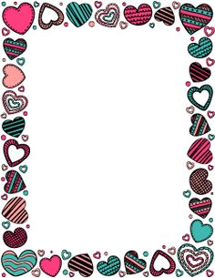 Free heart doodle border templates including printable border paper and clip art versions. File formats include GIF, JPG, PDF, and PNG. Boarder Designs, Frame Border Design, Page Borders Design, Doodle Borders, Borders For Paper, Printable Border, Printable Labels, Printables, Art Projects