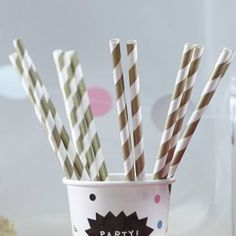 Metallic Gold Paper Party Straws by Ginger Ray, the perfect gift for Explore more unique gifts in our curated marketplace. Candy Bar Wedding, Wedding Desserts, Gold Wedding, Wedding Decorations, Grooms Party, Gold Paper, Makita, Paper Straws, Candy Buffet