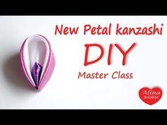 New petal in Kanzashi style . Tutorial Kanzashi / Новый Лепесток Канзаши - YouTube