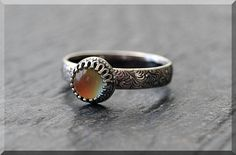 Sterling Silver Mood Ring Simple Stacking Ring  Stackable
