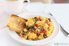 "How to make a ""kitchen sink"" scramble using ingredients you already have! #recipes"