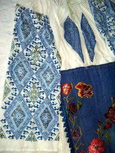 Ie din zona Lugoj (Banaterra.eu) Romania, Hand Embroidery, Folk Art, Costumes, Popular, Blouse, Bass Drum, Popular Art, Dress Up Clothes