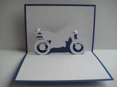 Pop-Up-Karten - Pop-Up Karte - Motorrad - ein Designerstück von Bastel-Preussin…