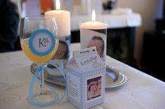 Spesiellinor - Den late husmor: Mal til melkekartong-bordkort til dåp
