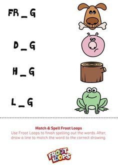 Match and Spell Froot Loops helps your kids learn how to spell and match.