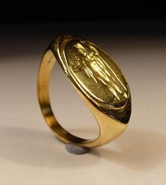 ROMAN/GREEK GOLD SEAL RING 1ST AD