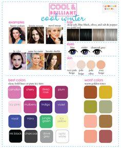 Cool and Brilliant: Cool Winter color scheme