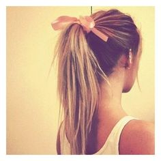 cute simple hairstyle the bow just makes it perfect