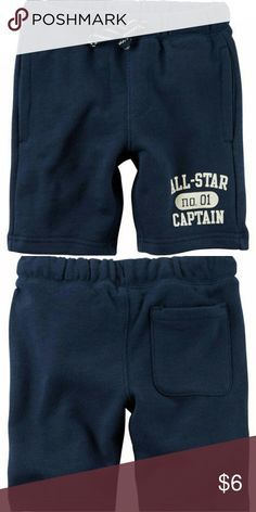 "Pull-On French Terry Shorts His go-to, easy-on shorts. Crafted in French terry cotton, this pair is ready for playground adventures.  Covered elastic waistband Functional drawstring Functional pockets Screen-printed ""ALL-STAR CAPTAIN"" graphic  100% French terry cotton Imported Machine washable Carter's Bottoms Shorts"
