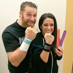 Sami Zayn and Bayley Wrasslin ❤ liked on Polyvore featuring wwe and nxt guys and…