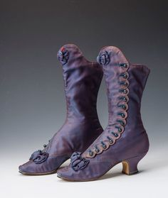 """Boots of Empress Maria Feodorovna of Russia from the 1880's.State Hermitage Museum. """"AL""""                                                                                                                                                                                 More"""