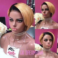 GK LUX WIG 1164 – GK Dreamhair Pixie Cut Wig, Blonde Pixie Cuts, Side Bangs, Wig Cap, Wigs, Short Hair Styles, Bob, Fashion, Bob Styles
