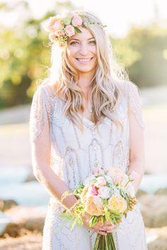 Simple and pretty boho wedding hair /  by Lavara Photography