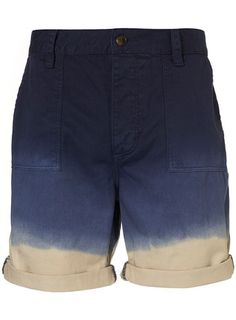 19d5e9bd68 Blue And Cream Dip Dye Shorts Dip Dye Shorts
