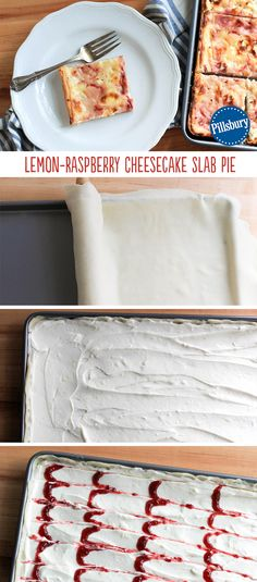 Slab pie is an easy way to make dessert for a crowd, but this sweet, tart, creamy slab pie makes for an extra-special treat any day of the week. Lemon Raspberry Cheesecake Slab Pie is perfect for graduation parties, weddings, or baby showers.