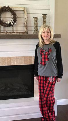 3562fc3850c Adult Christmas Monogrammed Pajama Set Matching Christmas