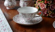 Katie Alice Ditsy White Floral Fine Bone China Cup & Saucer