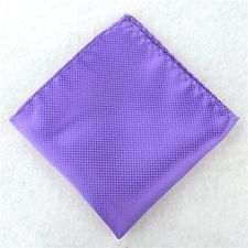 Available now for $0.26  is this Light Purple Fashion Men Pocket Square Checks Handkerchief Wedding Party Hanky