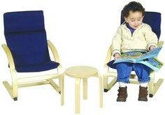 Guidecraft Kiddie Rocker Chair Set (Blue)