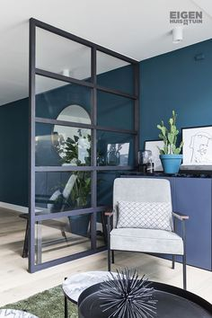 Glass Room Divider, Courtyard House Plans, Living Spaces, Living Room, Interior Photography, Cozy House, Home Accents, Home And Living, New Homes