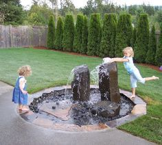 Beautiful Garden Fountain Ideas I love these fountains because you get the soothing water sound but they are safe for children and pets.I love these fountains because you get the soothing water sound but they are safe for children and pets. Backyard Water Fountains, Backyard Water Feature, Outdoor Fountains, Solar Fountains, Backyard Splash Pad, Wall Fountains, Ponds Backyard, Outdoor Water Features, Water Features In The Garden