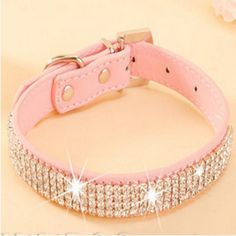 Cheap pet collar, Buy Quality dog collar directly from China pet dog collar Suppliers: Pet Collar Hot Bling Rhinestone PU Leather Crystal Diamond Puppy Pet Dog Collars Size S M L Pink Red Supplies Products Bling Dog Collars, Puppy Collars, Leather Dog Collars, Pu Leather, Rhinestone Dog Collar, Pet Dogs, Dog Cat, Pets, Pet Puppy