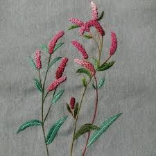 Crewel Embroidery - Long & Short as Soft Shading in Colors - Embroidery Patterns Embroidery Needles, Crewel Embroidery, Floral Embroidery, Embroidery Patterns, Seed Stitch, Needle And Thread, 2 Colours, Beads, Holi