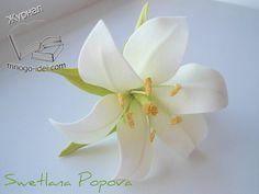 Лилия из фоамирана | Цветы своими руками Фоамиран последнее время завоевал очень большую популярность в интернете. С него можно делать красивые цветы своим