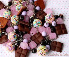 pulseira com brigadeiros coloridos - lilás