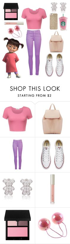 """Boo"" by crystalgems125 ❤ liked on Polyvore featuring Mansur Gavriel, Converse, Ilia, Disney, Surratt and Michael Kors"