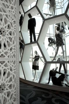 Retail Design | Store Interior | Shop Design | Store Design | Villa Moda store display designed by fantastic Marcel Wanders.