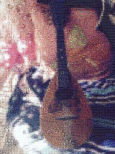 'Antique Mandolin', a photo tile mosaic at TileArray