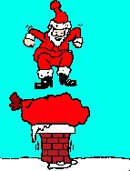 "Santa's stuck! (experiment to see if this animation shows up 'animating"" in the Pinterest feed.)"