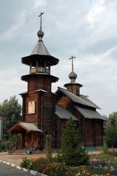 Church of Olga Equal-to-the-Apostles and Anastasia Princess, Stary Oskol, Russia Wooden Architecture, Russian Architecture, Church Architecture, Beautiful Mosques, Russian Orthodox, Cathedral Church, Christian Church, In Ancient Times, Place Of Worship