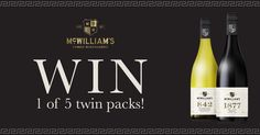 WIN 1 of 5 twin packs! To celebrate the launch of our new Flagship 1877 Hilltops Shiraz Vintage 2014 and 842 Tumbarumba Chardonnay Vintage 2013, we are giving away 5 x twin packs, signed by Winemaker Bryan Currie.