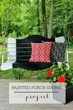 Painted Porch Swing