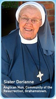 Sister Dorianne, Anglican Nun, Community of the Resurrection, Grahamstown
