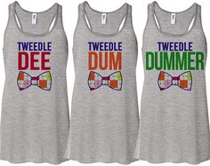 Grey Tank Top Tweedle Dee Dum Dummer Best by TeesAndTankYouShop