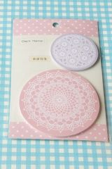 Decorative Lace Sticky Memo Note - Pink