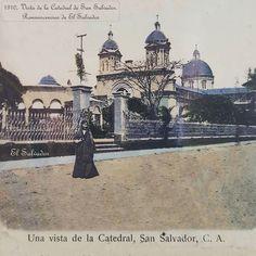 1910, Postal, Una vista de la Catedral de San Salvador