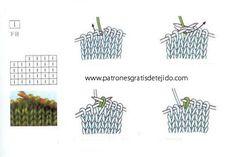 Guías de simbolos de patrones dos agujas para descargar en pdf e imprimir gratis