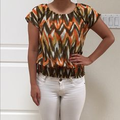 Michael Kors blouse top Great condition. Fun colorful top from Michael Kors. Worn three times. Michael Kors Tops Blouses