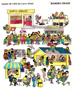 Oldies But Goodies, Slice Of Life, Pinoy, Cartoon Styles, Filipino, Larry, Artworks, Cartoons, Comics