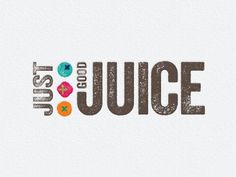 Just Good Juice identity Juice Logo, Juice Branding, Juice Packaging, Juice Bar Interior, Bar Drinks, Drink Bar, Catchy Names, Fruit Logo, Healthy Bars
