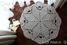 Free Crochet Pattern on the famous Giant Doily Rug. This Giant Doily Rug spice up the floor and the home decor instantly. – Page 2 of 2