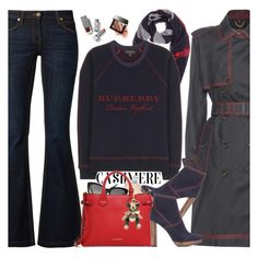 """""""Holiday Cashmere"""" by hollowpoint-smile ❤ liked on Polyvore featuring Burberry and Bobbi Brown Cosmetics"""